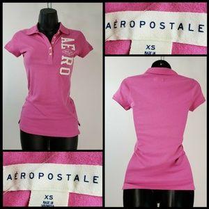 Aeropostale Woman Short Sleeve Polo T shirt Sz XS
